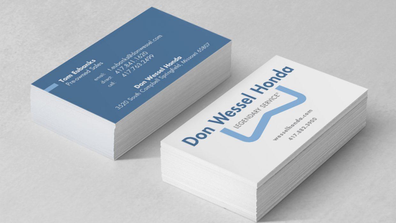 don wessel honda business cards sugar design studio. Black Bedroom Furniture Sets. Home Design Ideas