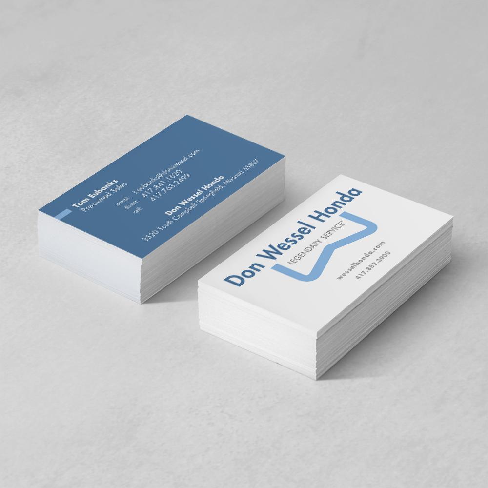 Don wessel honda business cards sugar design studio for Business cards springfield mo