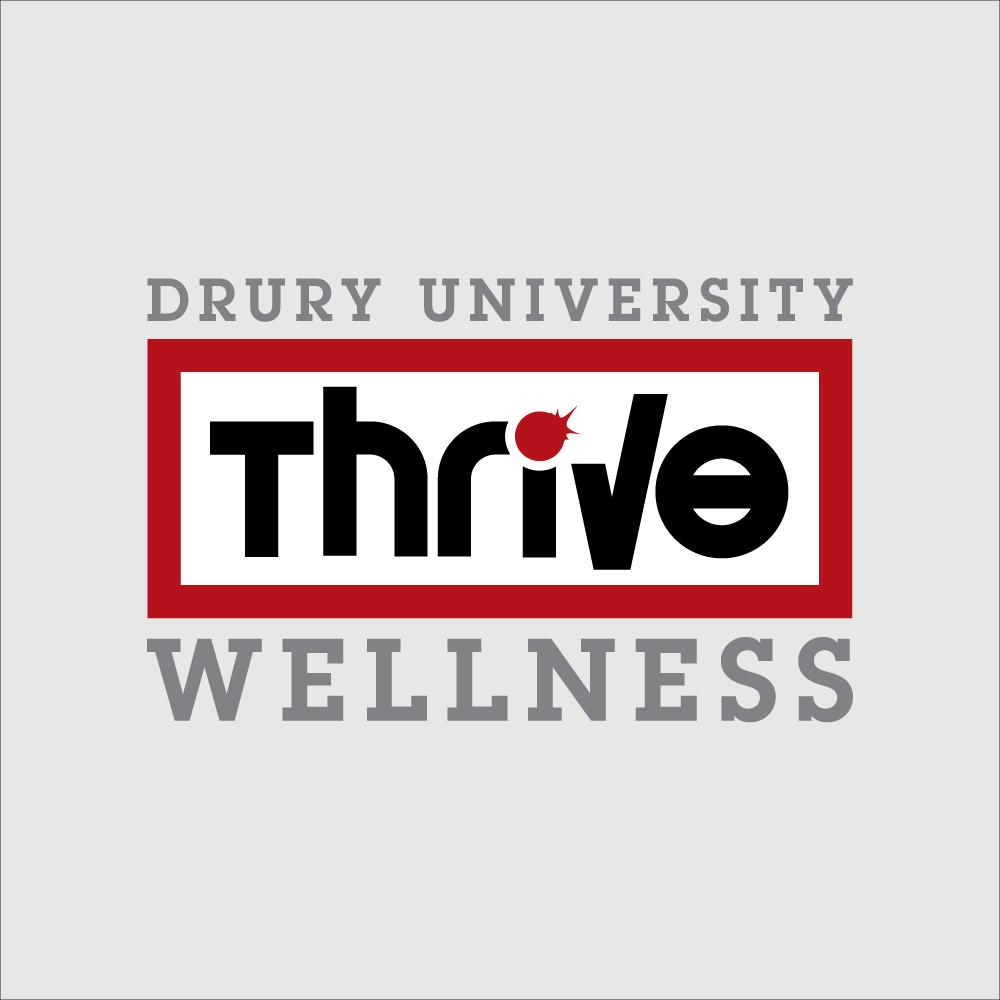 drury university thrive wellness logo by sugar design studio sugar design studio. Black Bedroom Furniture Sets. Home Design Ideas