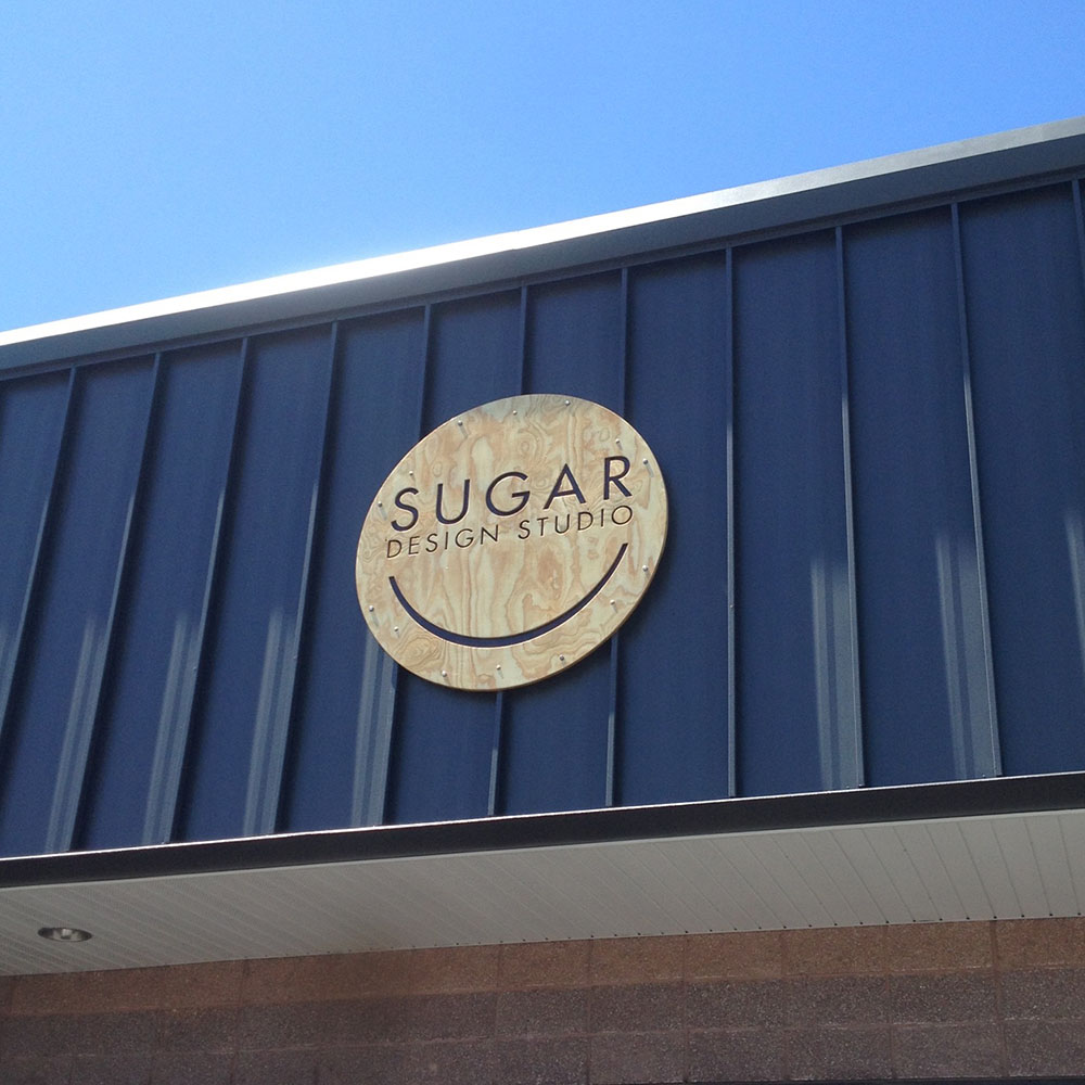 Sugar Design Studio Sign for Contact Page